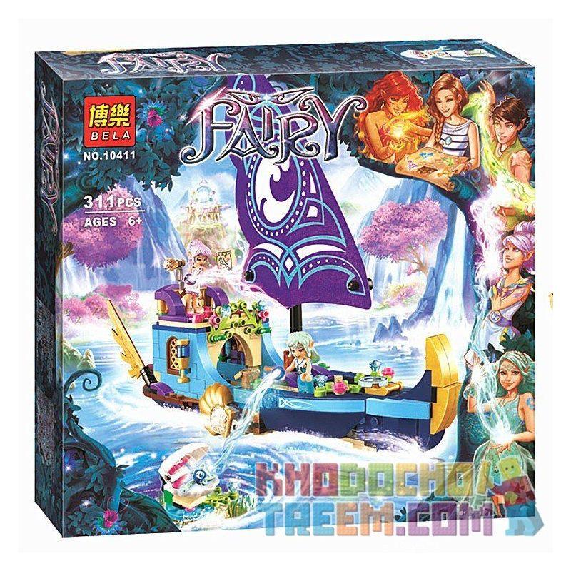 Bela 10411 Lele 79223 (NOT Lego Elves 41073 Naida's Epic Adventure Ship ) Xếp hình Chiếc Thuyền Phiêu Lưu Của Naida 312 khối