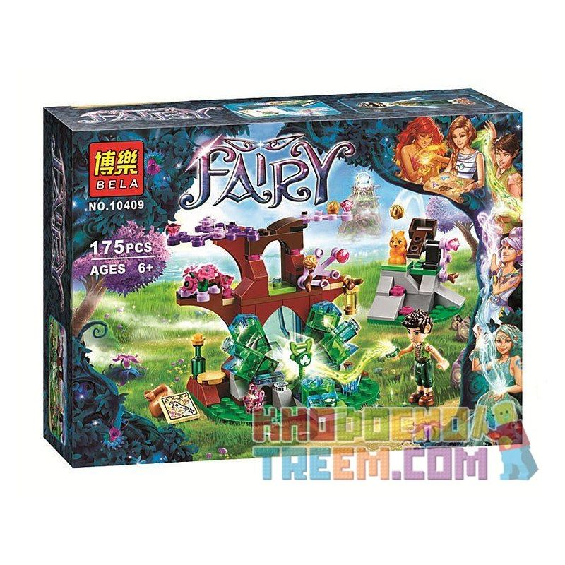 NOT Lego ELVES 41076 Farran And The Crystal Hollow, Bela 10409 Lari 10409 LELE 79221 Xếp hình Farran Và Hang Tinh Thể 175 khối