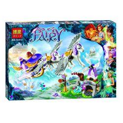 NOT Lego ELVES 41077 Aira's Pegasus Sleigh, Bela 10413 Lari 10413 LELE 79224 Xếp hình Cỗ Xe Ngựa Bay Của Aira 319 khối