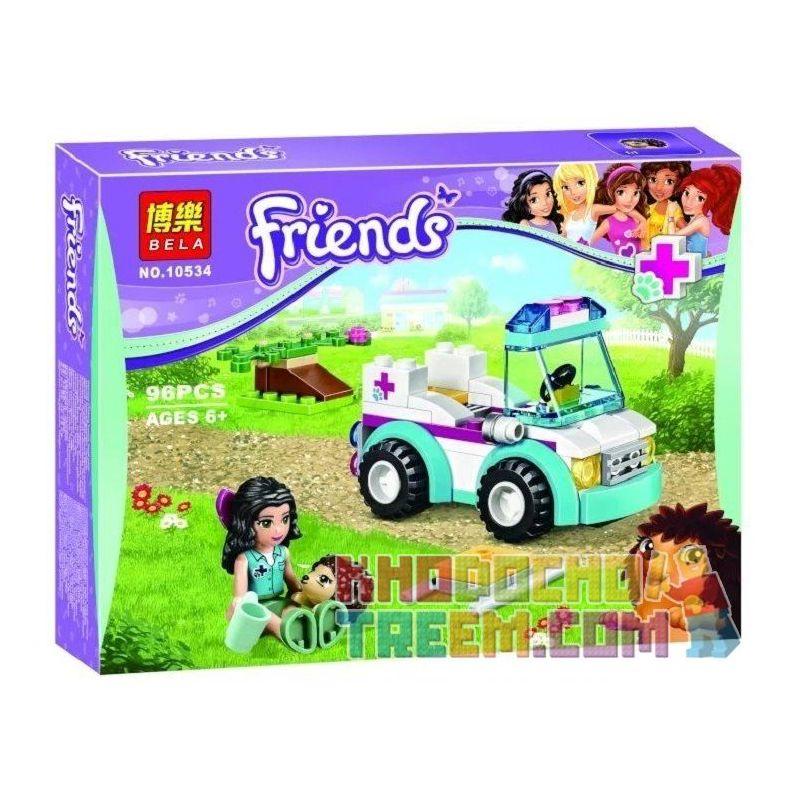 Bela 10534 (NOT Lego Friends 41086 Vet Ambulance ) Xếp hình Xe Cấp Cứu Thú Y 96 khối