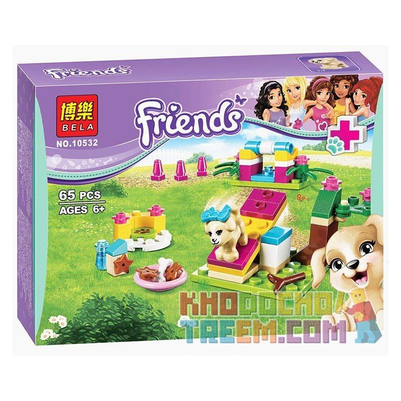 NOT Lego FRIENDS 41088 Puppy Training, Bela 10532 Lari 10532 Xếp hình tập luyện cho cún con 65 khối