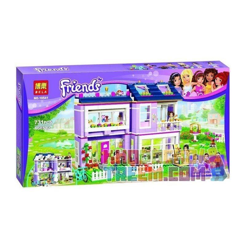 Bela 10541 (NOT Lego Friends 41095 Emma's House ) Xếp hình Nhà Của Emma 731 khối