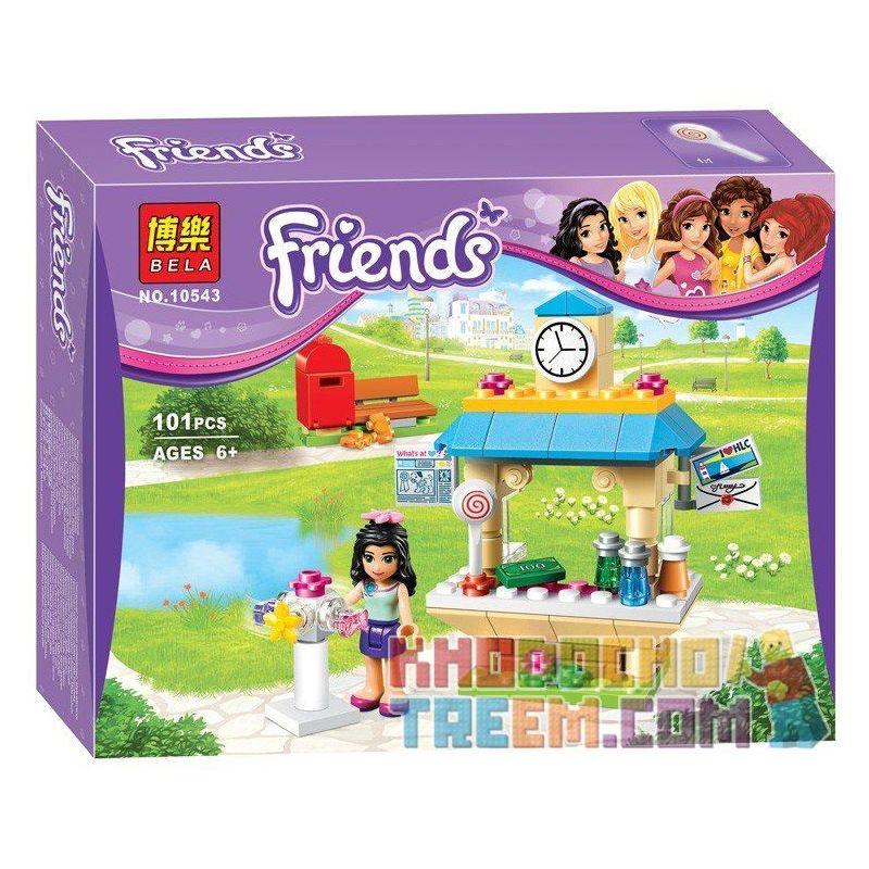 Bela 10543 (NOT Lego Friends 41098 Emma's Tourist Kiosk ) Xếp hình Quầy Bán Đồ Phục Vụ Khách Du Lịch Của Emma 101 khối