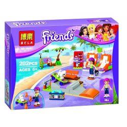 NOT Lego FRIENDS 41099 Heartlake Skate Park, Bela 10491 Lari 10491 Xếp hình công viên trượt ván patin Hồ Trái Tim 199 khối