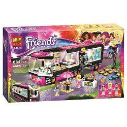 Bela 10407 Lari 10407 SHENG YUAN SY 381 SY381 Xếp hình kiểu Lego FRIENDS Pop Star Tour Bus Popular Star Sightseeing Bus Xe Buýt Lưu Diễn Của Siêu Sao Nhạc Pop 682 khối