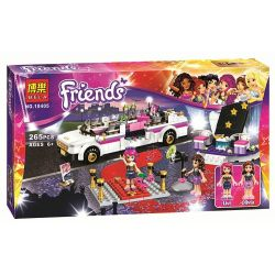 NOT Lego FRIENDS 41107 Pop Star Limousine, Bela 10405 Lari 10405 SHENG YUAN SY 382 SY382 Xếp hình xe limousine của siêu sao nhạc Pop 265 khối