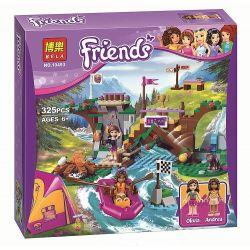 NOT Lego FRIENDS 41121 Adventure Camp Rafting, Bela 10493 Lari 10493 LEPIN 01003 SHENG YUAN SY 831 SY831 Xếp hình chèo thuyền cắm trại 320 khối