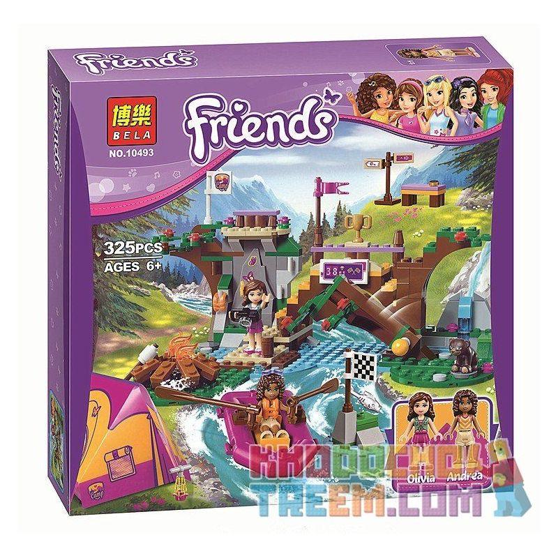 Bela 10493 Lepin 01003 Sheng Yuan 831 SY831 (NOT Lego Friends 41121 Adventure Camp Rafting ) Xếp hình Chèo Thuyền Cắm Trại 325 khối