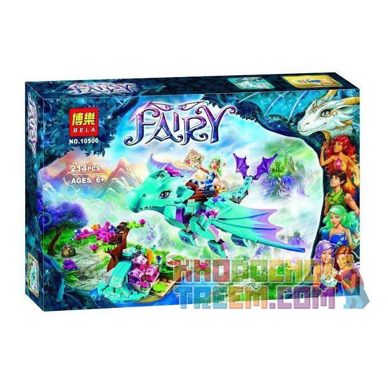 Bela 10500 (NOT Lego Elves 41172 The Water Dragon Adventure ) Xếp hình Phiêu Lưu Cùng Chú Rồng Nước 214 khối