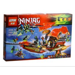 Lepin 06020 Bela 10402 Lele 79125 Sheng Yuan 393 SY393 Queen 89008 (NOT Lego Ninjago Movie 70738 Final Flight Of Destiny's Bounty ) Xếp hình Chuyến Bay Cuối Của Phi Thuyền Chỉ Huy 1325 khối
