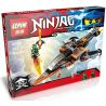 Lepin 06026 Bela 10445 Sheng Yuan 528 SY528 Lele 79229 (NOT Lego Ninjago Movie 70601 Sky Shark ) Xếp hình Phi Thuyền Cá Mập Chiến Đấu 242 khối