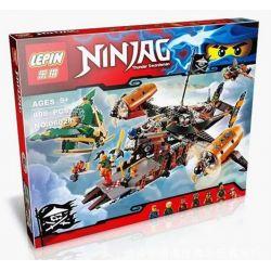 Bela 10462 Lari 10462 LELE 79233 LEPIN 06028 Xếp hình kiểu THE LEGO NINJAGO MOVIE Misfortune's Keep Feitian Pirate Division 运 堡 号 Tấn Công Tàu Bay Hải Tặc 754 khối