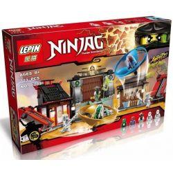 Bela 10527 Lari 10527 LELE 79349 LEPIN 06033 Xếp hình kiểu THE LEGO NINJAGO MOVIE Airjitzu Battle Grounds Flying Ninja Fighting Field Jie Kaizu Zijie Master đấu Trường Ninja 666 khối