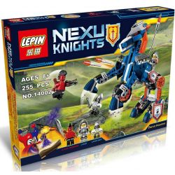 Bela 10485 Lari 10485 LELE 79236 LEPIN 14002 SHENG YUAN SY SY560 Xếp hình kiểu Lego NEXO KNIGHTS Lance's Mecha Horse Lance's Mechanical Deformation God Ngựa Máy Chiến đấu 237 khối