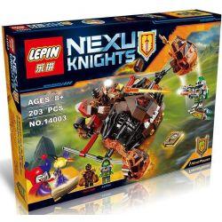 Bela 10481 Lari 10481 LELE 79237 LEPIN 14003 SHENG YUAN SY SY561 Xếp hình kiểu Lego NEXO KNIGHTS Moltor's Lava Smasher Miyan Magic Shundan Double Rapid Chiến Xa Nham Thạch Hủy Diệt Của Moltor 187 khối
