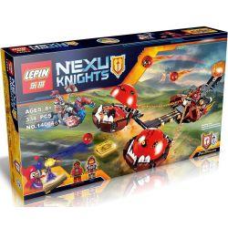 Bela 10483 Lari 10483 LELE 79238 LEPIN 14004 SHENG YUAN SY SY562 Xếp hình kiểu Lego NEXO KNIGHTS Beast Master's Chaos Chariot Inflammation Xe Kéo Hủy Diệt 314 khối
