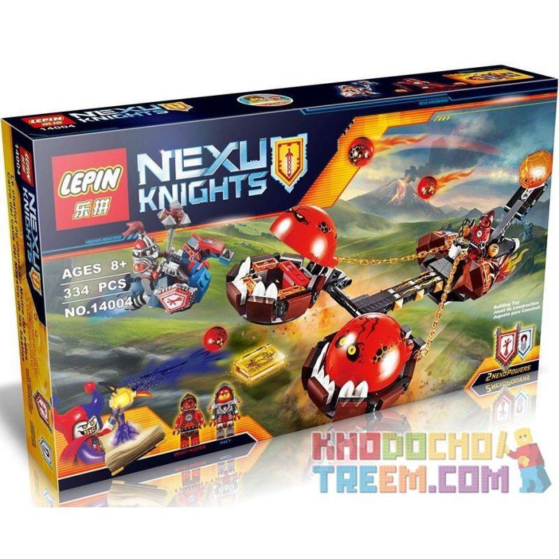 Lepin 14004 Bela 10483 Sheng Yuan 562 SY562 Lele 79238 (NOT Lego Nexo Knights 70314 Beast Master's Chaos Chariot ) Xếp hình Xe Kéo Hủy Diệt 334 khối