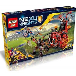 Bela 10489 Lari 10489 LELE 79240 LEPIN 14005 SHENG YUAN SY SY567 Xếp hình kiểu Lego NEXO KNIGHTS Jestro's Evil Mobile Clown's Huge Wheel Cỗ Xe Quái Vật Của Tên Hề Jestro 658 khối