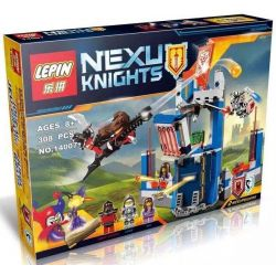 Bela 10486 Lari 10486 LELE 79244 LEPIN 14007 SHENG YUAN SY SY563 Xếp hình kiểu Lego NEXO KNIGHTS Merlok's Library 2.0 War Knight Hide Thư Viện Của Các Hiệp Sỹ 288 khối