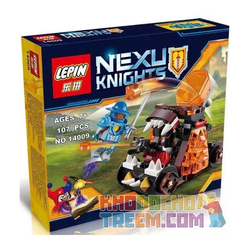 Lepin 14009 Bela 10474 Lele 79235B (NOT Lego Nexo Knights 70311 Chaos Catapult ) Xếp hình Cỗ Xe Bắn Đá 107 khối