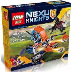 Bela 10484 Lari 10484 LEPIN 14010 Xếp hình kiểu Lego NEXO KNIGHTS Knighton Battle Blaster Empire Fighting Transmitter Cỗ Xe Kị Sĩ Chiến đấu 76 khối