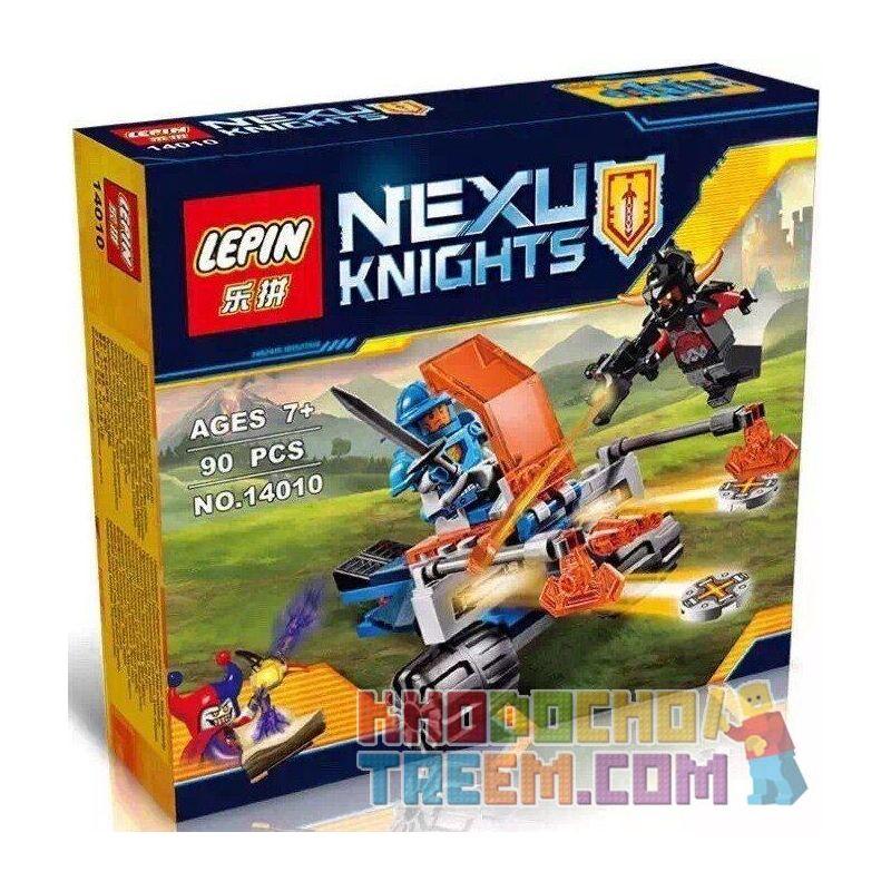 NOT Lego NEXO KNIGHTS 70310 Knighton Battle Blaster, Bela 10484 Lari 10484 LEPIN 14010 Xếp hình cỗ xe kị sĩ chiến đấu 76 khối