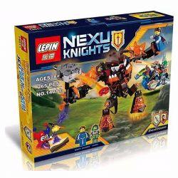 Bela 10482 Lari 10482 LELE 79245 LEPIN 14011 SHENG YUAN SY SY564 Xếp hình kiểu Lego NEXO KNIGHTS Infernox Captures The Queen Jarian Magic Offense Quái Vật Nham Thạch Bắt Cóc Nữ Hoàng 253 khối