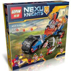 Bela 10516 Lari 10516 Decool 8016 Jisi 8016 LEPIN 14017 Xếp hình kiểu Lego NEXO KNIGHTS Macy's Thunder Mace Messi's Thunder 12 Mô Tô Chùy Sấm Sét Của Macy gồm 2 hộp nhỏ 202 khối