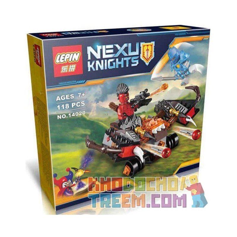 Lepin 14020 Bela 10515 Sheng Yuan 737B SY737B (NOT Lego Nexo Knights 70318 The Glob Lobber ) Xếp hình Xe Tấn Công Quỷ Dữ 118 khối