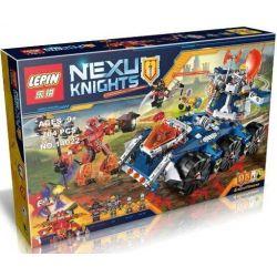Bela 10520 Lari 10520 LELE 79308 LEPIN 14022 SHENG YUAN SY SY805 Xếp hình kiểu Lego NEXO KNIGHTS Axl's Tower Carrier Aixo's Fit Tower Anti-war Tháp Canh Di động 670 khối