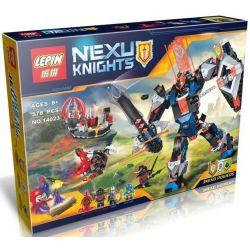 Bela 10519 Lari 10519 Decool 8018 Jisi 8018 LELE 79311 LEPIN 14023 SHENG YUAN SY SY803 Xếp hình kiểu Lego NEXO KNIGHTS The Black Knight Mech Robot Hiệp Sĩ đen 530 khối
