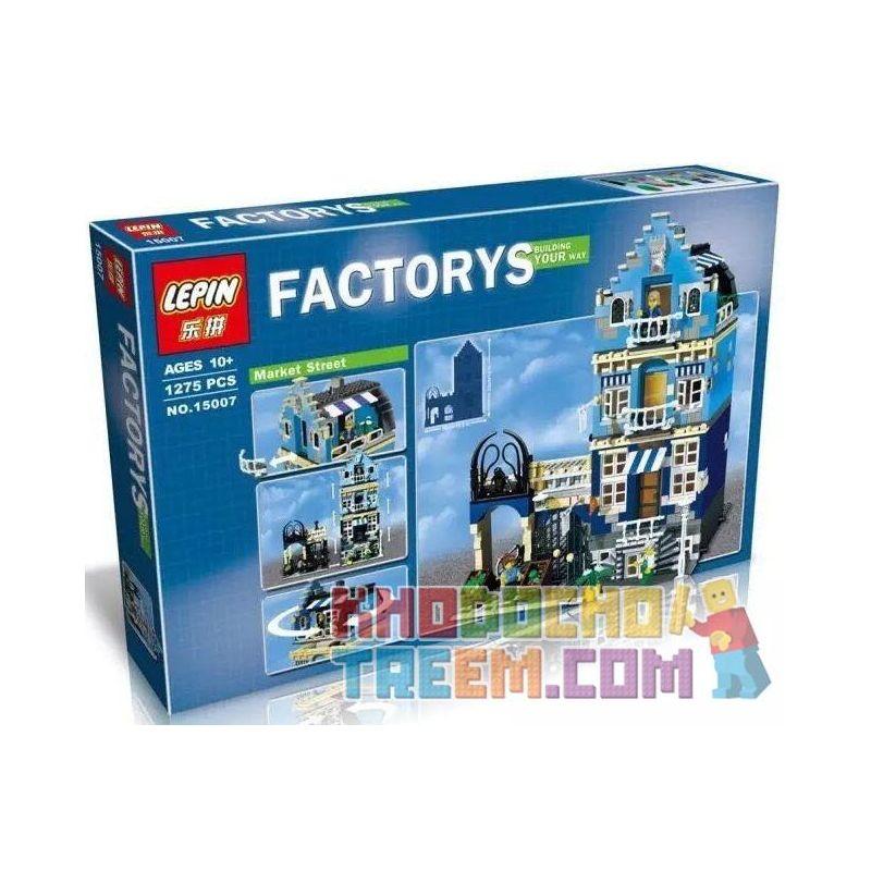 Lepin 15007 Pogo 10003 Lele 30013 King 84007 (NOT Lego Creator Expert Modular Buildings 10190 Market Street ) Xếp hình Chợ Khu Phố 1275 khối