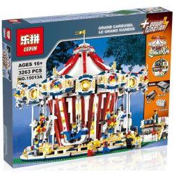 LEPIN 15013 15013A Xếp hình kiểu Lego CREATOR EXPERT Grand Carousel Rotating Trojan Vòng Xoay Ngựa Gỗ Lớn 3263 khối có động cơ pin