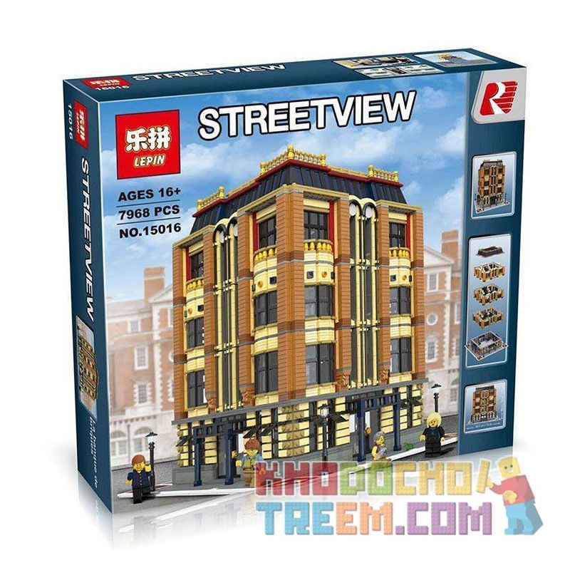 Lepin 15016 (NOT Lego Modular Buildings Apple Square University ) Xếp hình Trường Đại Học Táo Khuyết 7968 khối