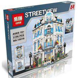 LEPIN 15018 Xếp hình kiểu Lego CREATOR Sunshine Hotel Khách Sạn Quốc Tế Mặt Trời Mọc 3196 khối