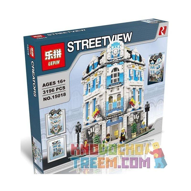 Lepin 15018 (NOT Lego Modular Buildings The International Sunshine Hotel ) Xếp hình Khách Sạn Quốc Tế Mặt Trời Mọc 3196 khối