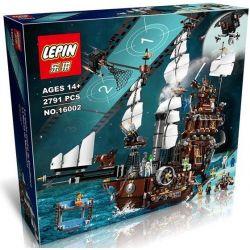 Lepin 16002 (NOT Lego Movie 70810 Metalbeard's Sea Cow ) Xếp hình Thuyền Bò Biển Của Thuyền Trưởng Râu Sắt 2791 khối