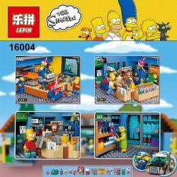 NOT Lego THE SIMPSONS 71016 Kwik-E-Mart KWIK-E- Supermarket , BLANK 20009 KING 83004 LEPIN 16004 LION KING 180043 Xếp hình Siêu Thị Kwik-E-Mart 2179 khối