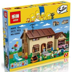 BLANK 20010 KING 83005 LEPIN 16005 LION KING 180044 Xếp hình kiểu Lego THE SIMPSONS The Simpsons House Simpson House Căn Nhà Gia đình Simpson 2523 khối