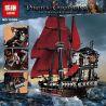 Lepin 16009 Lele 39008 Sheng Yuan 1199 SY1199 (NOT Lego Pirates of the Caribbean 4195 Queen Anne's Revenge ) Xếp hình Con Tàu Sự Trả Thù Của Nữ Hoàng Anne 1151 khối