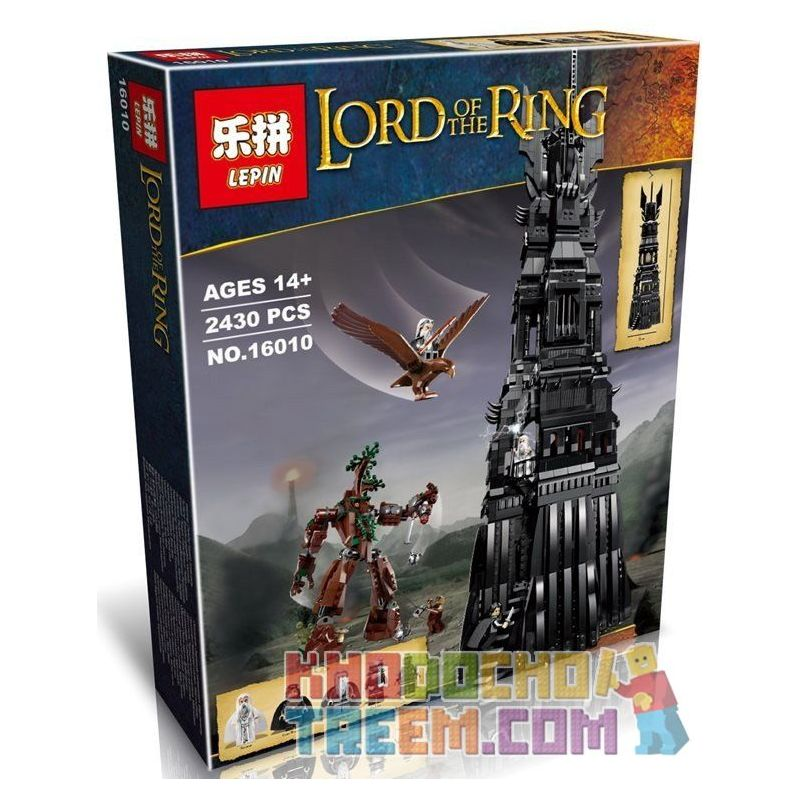 Lepin 16010 (NOT Lego The Lord of the Rings 10237 Tower Of Orthanc ) Xếp hình Tháp Orthanc 2430 khối