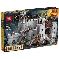 LEPIN 16013 Xếp hình kiểu Lego THE LORD OF THE RINGS The Battle Of Helm's Deep Refers To The Ring Of The King Hanmertiga Trận Chiến ở Pháo đài Thung Lũng Helm 1368 khối