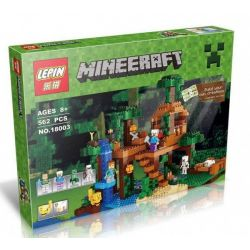 Lepin 18003 Bela 10471 Lele 79282 Bolx 81125 (NOT Lego Minecraft 21125 The Jungle Tree House ) Xếp hình Nhà Cây Khổng Lồ Của Steve Và Alex 706 khối