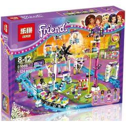 Bela 10563 Lari 10563 Decool 80219 Jisi 80219 LELE 37011 LEPIN 01008 SHENG YUAN SY SY820 Xếp hình kiểu Lego FRIENDS Amusement Park Roller Coaster Large Roller Coaster Tàu Lượn đu Quay Tròn đứng đu Qua