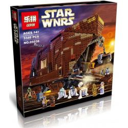 Lepin 05038 (NOT Lego Star wars 75059 Sandcrawler ) Xếp hình Cỗ Xe Sa Mạc Khổng Lồ Của Jawas 3346 khối