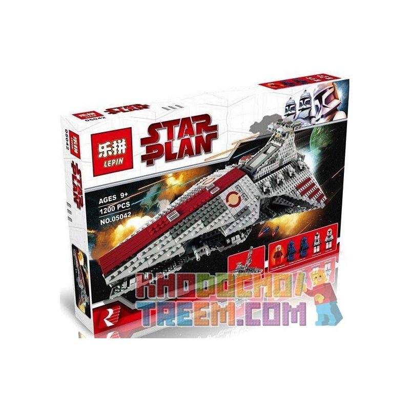 NOT Lego STAR WARS 8039 Venator-Class Republic Attack Cruiser Veneto-Republic-class Attack Cruiser , KING 81044 LEPIN 05042 LION KING 180013 Xếp hình Phi Thuyền Tấn Công đầu Nhọn 1170 khối
