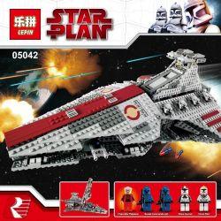 NOT Lego STAR WARS 8039 Venator-Class Republic Attack Cruiser, KING 81044 LEPIN 05042 LION KING 180013 Xếp hình Phi Thuyền Tấn Công đầu Nhọn 1170 khối