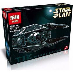 LEPIN 05044 Xếp hình kiểu Lego STAR WARS TIE Interceptor Titanium Interceptor Phi Thuyền đánh Chặn TIE 703 khối