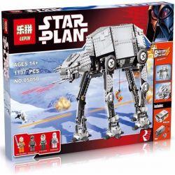 Lepin 05050 (NOT Lego Star wars 10178 Motorised Walking At-At ) Xếp hình Tàu Đi Bộ At-At Có Động Cơ Pin 1137 khối