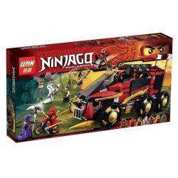 Bela 10325 Lari 10325 LELE 79143 LEPIN 06006 Xếp hình kiểu THE LEGO NINJAGO MOVIE Ninja DB X Mobile Command Center ô Tô địa Hình Chiến đấu Của Ninja 756 khối